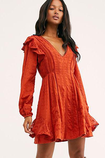 "Free People Mini Dress ""Red Isabella"""