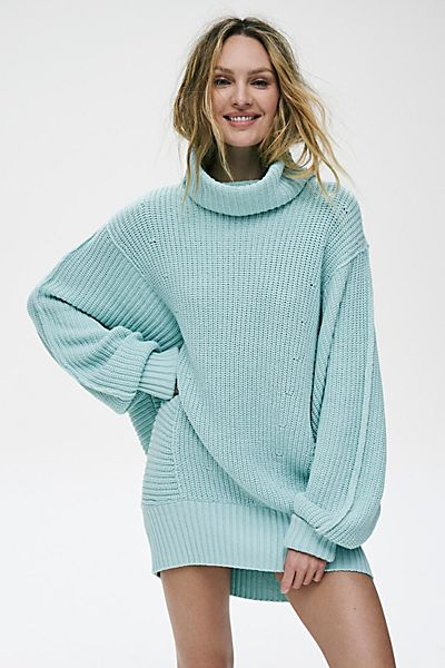 """Free People Sweater """"Turquoise Cocoa"""""""