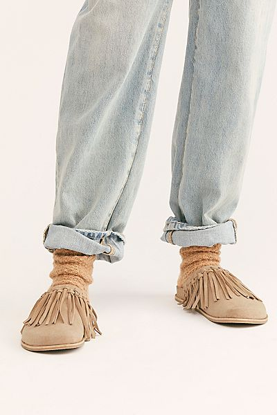 "Free People Fringed Slippers ""Odessa"""