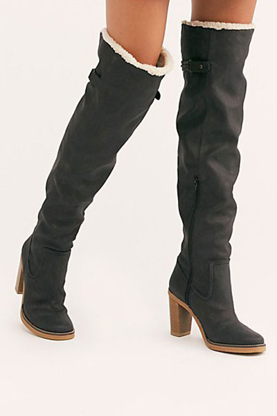 "Free People Boots ""Vegan Blake Heel Tall Boot"""