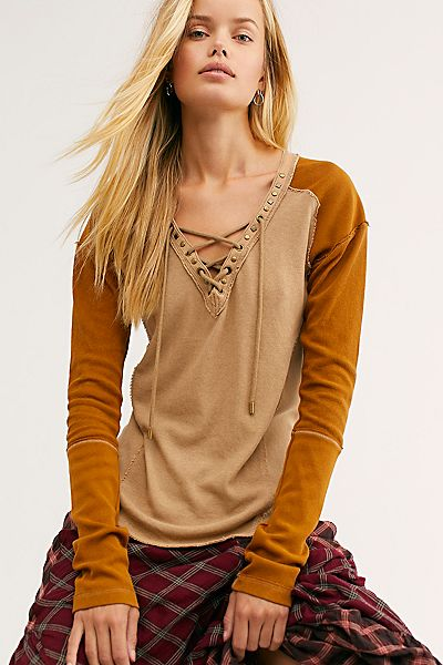 "Free People Henley Top ""Old School"""