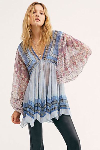 "Free People Top ""Aliyah Boho Tunic"""