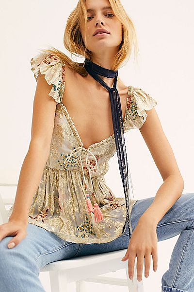"""Free People Top """"All That Shimmers Cami"""""""