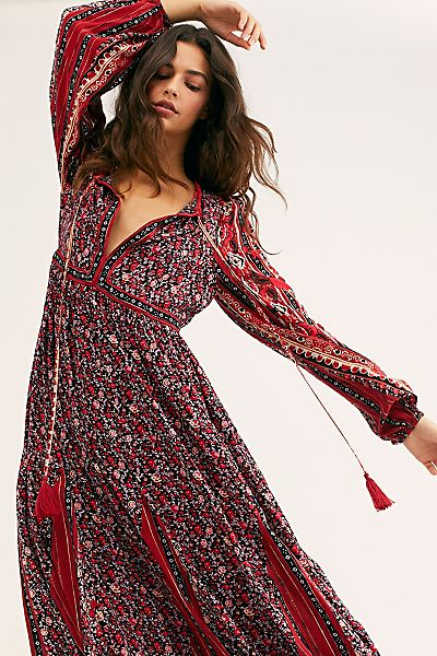 "Free People Midi Dress ""Happy Feelings"""