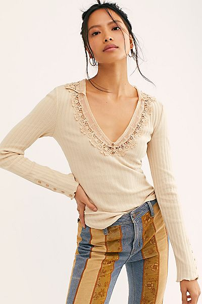 "Free People Top ""Best Advice Henley"""