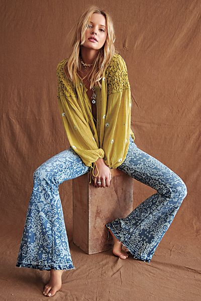 """Free People Flare Jeans """"Dream Lover Bells"""""""