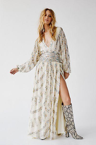 """JPB Maxi Dress """"Prophecy Lapis Sequin"""""""