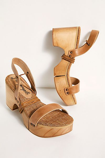 "Free People Clogs ""Aurora Wrap Sandals"""