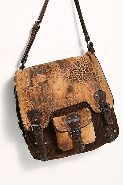 "Free People Messenger Bag ""Leopardito"""