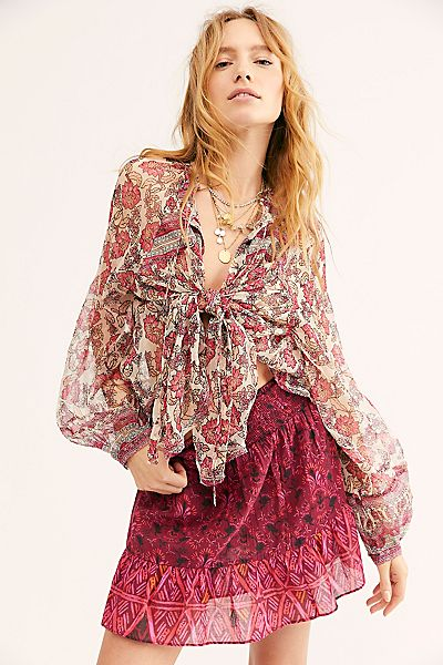 """Free People Top """"Beat Of My Heart Shirt"""""""