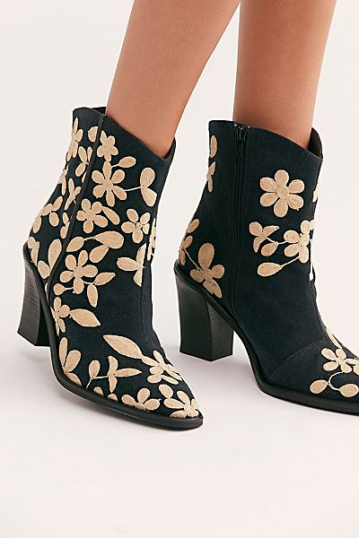 """Free People Ankle Boots """"Embroidered Barclay"""""""