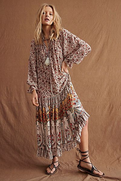 "Free People Maxi Dress ""Feeling Groovy Boho"""