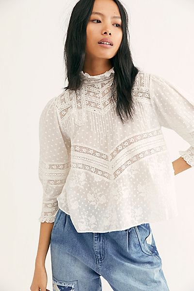 "LoveShackFancy Top ""Shelly Blouse"""