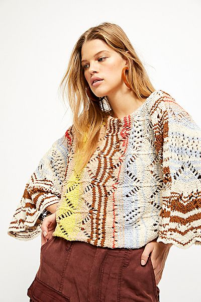 """Free People Sweater """"Coral Reef Pullover"""""""