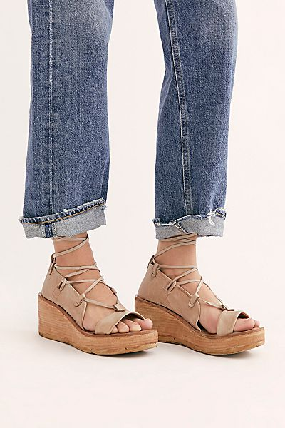 "A.S.98 Sandals ""Maya Wrap Wedges"""