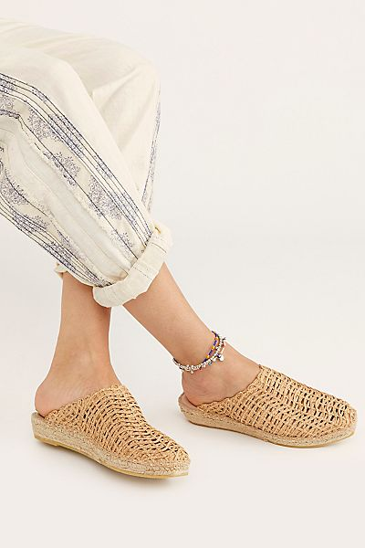 "Free People Mules ""Gold Coast Flats"""