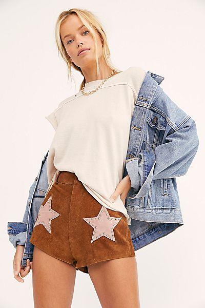 "Understated Leather Shorts ""Stardust"""