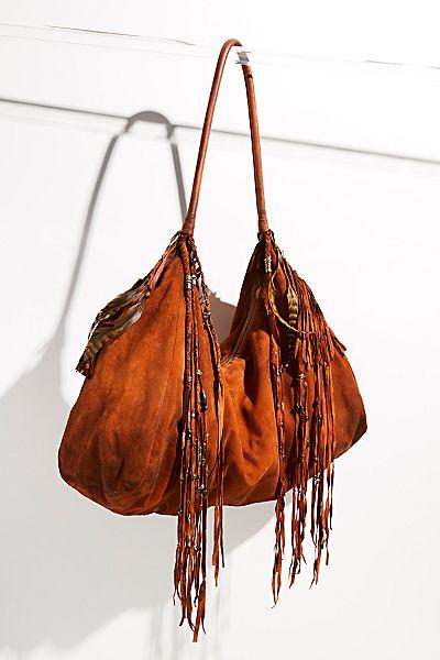 "Boho Embellished Hobo Bag ""Mirage Tote"""