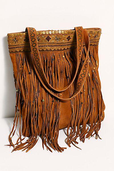 """Brenda Knight Bag """"Drifter Fringe Tote"""""""