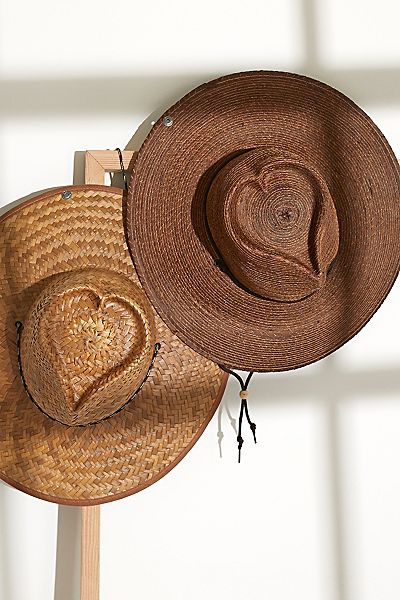 "Free People Straw Hat ""Heart Crown"""