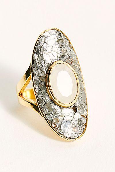 Raw Diamond Crete Ring