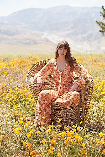 "Floral Boho Jumpsuit ""Golden Hour"""