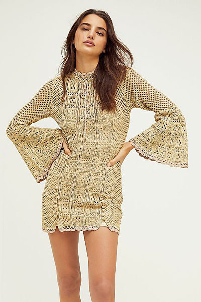 "Alice McCall Crochet Mini Dress ""Champagne Coast"""