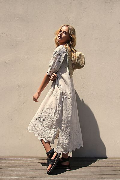 "Free People Midi Dress ""Virgie Eyelet"""