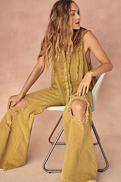 """Free People Flare Jeans """"Night Fever Cord"""""""