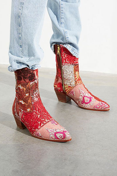 "Bohemian Patchwork Western Boots ""Sunny Days"""
