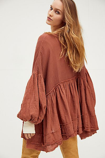 "Free People Pullover ""Keeping It Cool Tunic"""