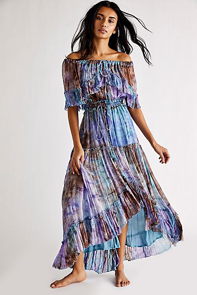 "Fillyboo Boho Maxi Dress ""Santa Monica Tambourine"""