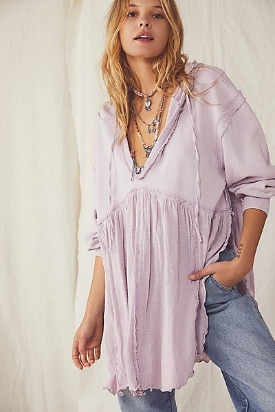 "Free People Sweatshirt ""Sunday Morning Hoodie"""