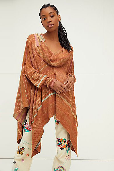 "Free People Tunic ""Toffee Poncho"""