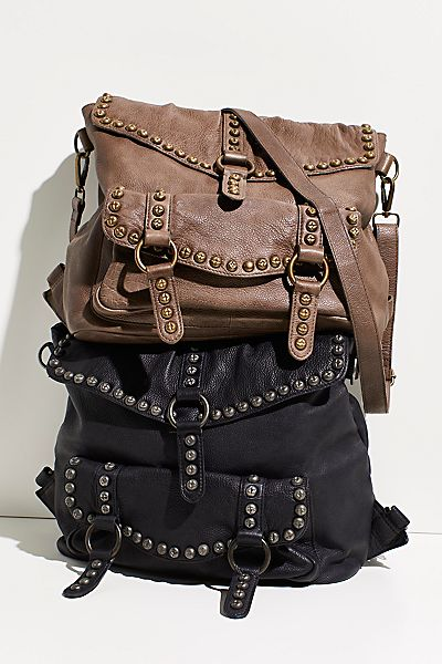 "Free People Bag ""Sumac Studded Messenger"""