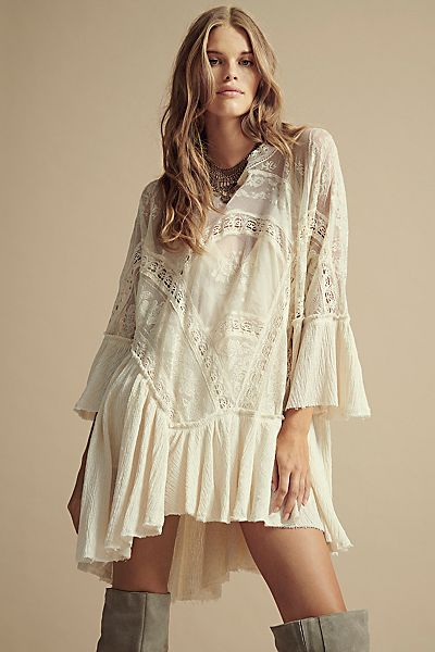 """Free People Swing Dress """"Layered In Lace"""""""