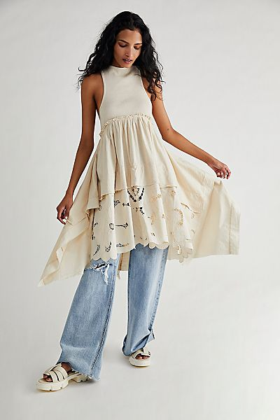 """Free People Top """"Floral Fields Maxi Tee"""""""