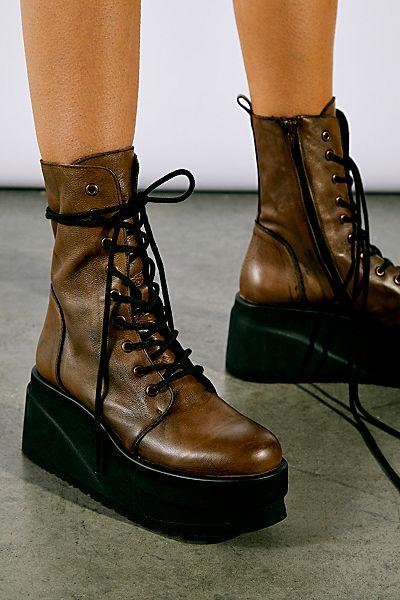 "Free People Platform Lace-Up Boots ""Nella"""