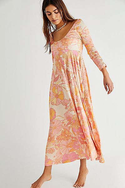"""Free People Maxi Dress """"Retro First Date"""""""