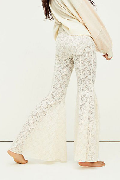"""Free People Flare Pants """"Electric Lace"""""""