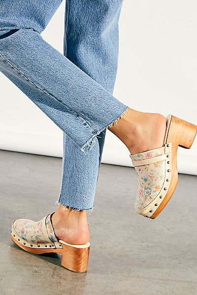 """Free People Shoes """"Calabasas Floral Clogs"""""""