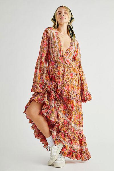 "Free People Bohemian Maxi Dress ""Floral Wonderland"""