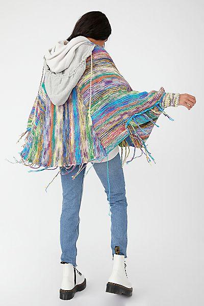 """Free People Top """"Kaleidoscope Knit Hoodie Jacket"""""""