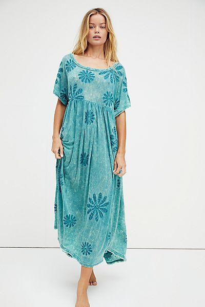 "Free People Maxi Dress ""Blooming Tee"""