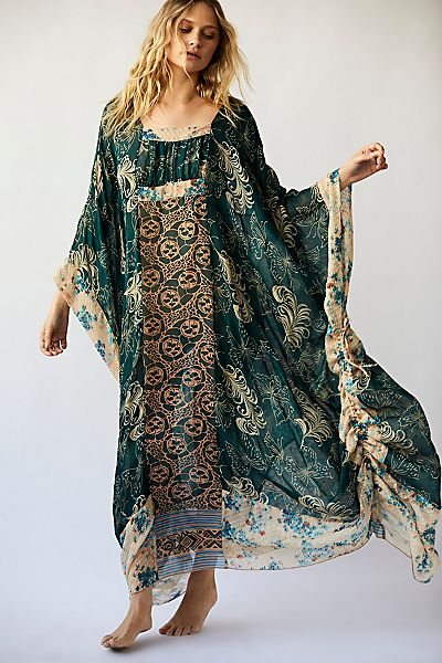 "Anna Sui Bohemian Maxi Dress ""Upcycle Kaftan"""