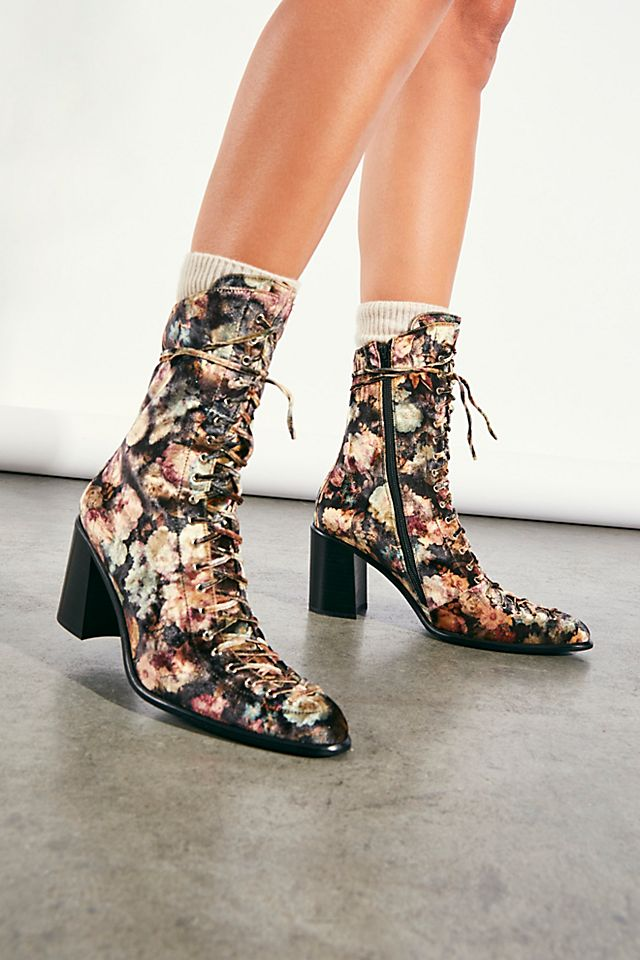 """Jeffrey Campbell Lace-Up Heel Boots """"Hastings"""""""
