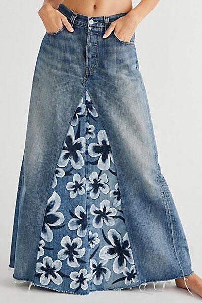 "Rialto Denim Maxi Skirt ""Emma"""