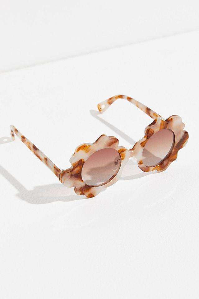 "Lele Sadoughi Round Sunglasses ""Daisy"""