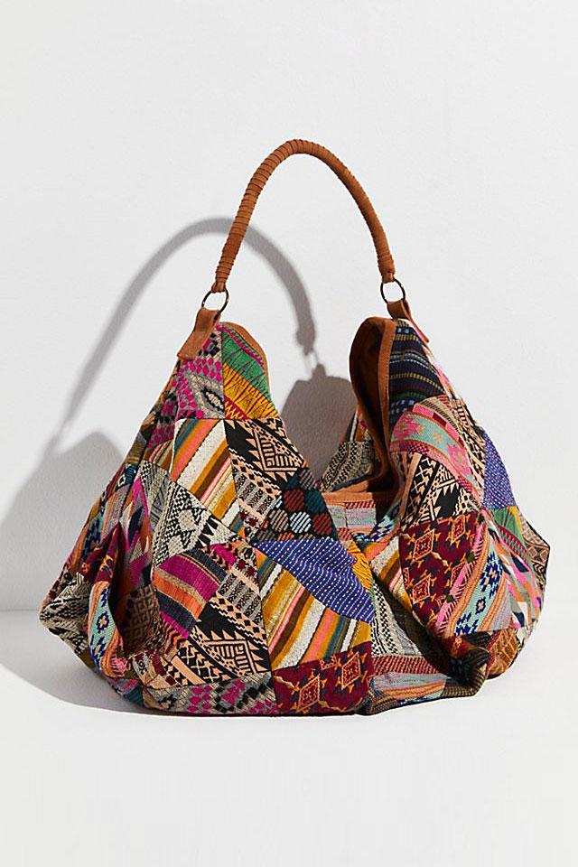 "Free People Tote Bag ""Technicolor"""