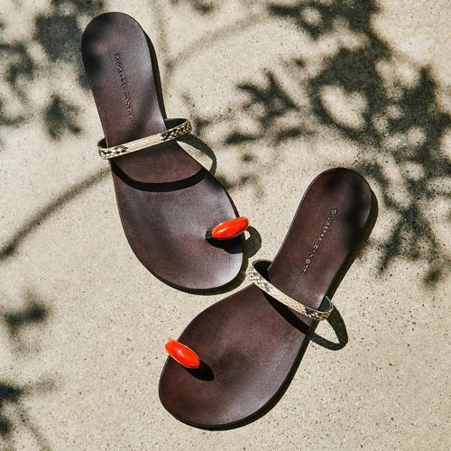 "Giuseppe Zanotti Flat Sandals ""Ring Gem"""